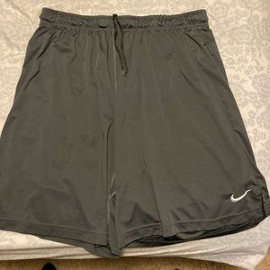 Gray Nike dri fit shorts
